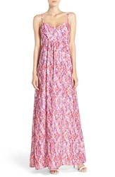 Petite Women's Felicity And Coco Woven Maxi Dress Coral Purple Multi