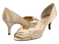 Nina Culver Gold Satin Women's Bridal Shoes