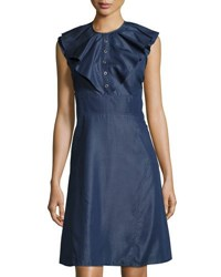 Nanette Nanette Lepore Flutter Sleeve Fit And Flare Dress Indigo