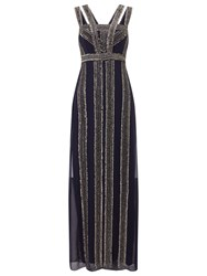 Phase Eight Collection 8 Ursuline Embellished Full Length Dress Navy