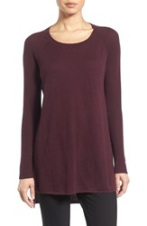 Nordstrom Women's Collection Cashmere Sweater Burgundy Stem