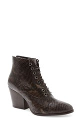 Andre Assous Women's 'Florencia' Lace Up Bootie Coffee Leather
