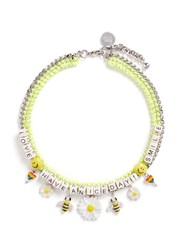 Venessa Arizaga 'Have A Nice Day' Necklace Yellow Multi Colour