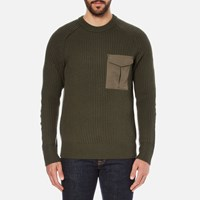 Rag And Bone Men's Elijah Rib Jumper Army Green