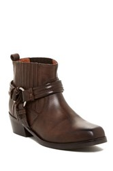 Diesel Square Toe Harless Ankle Boot Brown
