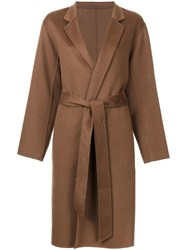 H Beauty And Youth. 'Ca Rever' Coat Brown