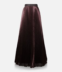Christopher Kane Long Lame Skirt Pink And Purple