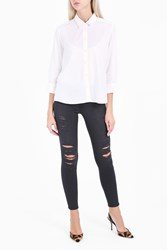 Frame Denim Le Skinny Quintin Shred Jeans Black