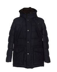 Seventy Coats And Jackets Down Jackets Men Dark Blue