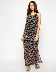 French Connection Beach Party Maxi Dress Pinkmulti
