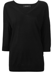 Cividini V Neck Long Sweater Black