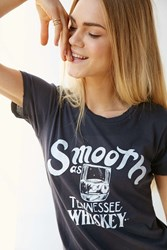 Urban Outfitters Smooth As Tennessee Whiskey Tee Washed Black