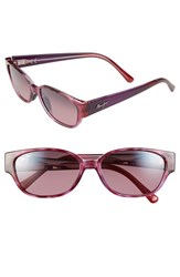 Women's Maui Jim 'Anini Beach' 53Mm Polarized Sunglasses Amethyst Maui Rose