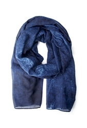 Forever 21 Abstract Blur Print Scarf Blue