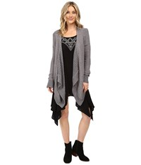Rip Curl Innocence Cardi Dark Grey Women's Sweater Gray