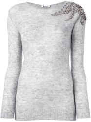 Dondup Round Neck Jumper Grey