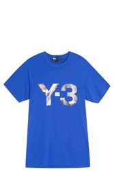 Y 3 Rainbow Logo T Shirt Blue