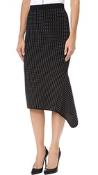 Jonathan Simkhai Asymmetrical Dasha Midi Skirt Black