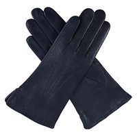 Dents Ladies Imitation Peccary Leather Glove Navy