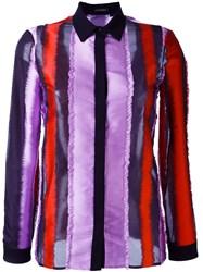 Versace Ruched Edge Stripe Shirt Multicolour
