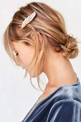 Urban Outfitters Feathered Hair Clip Blush