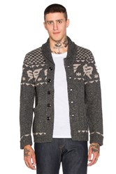 G Star Draha Heavy Wool Slub Cardigan Gray