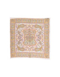 Angelina Folies Square Scarves Ocher
