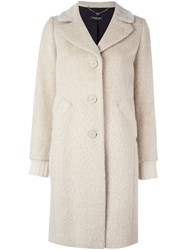 Twin Set Single Breasted Coat Nude And Neutrals