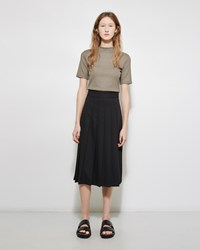 Nomia Pleated Midi Skirt Black
