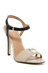 Calvin Klein Madigan Classic Snake Embossed Ankle Strap Pump Brown