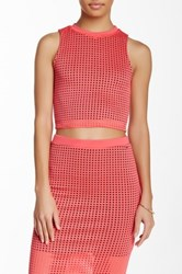 Blvd Perforated Sleeveless Blouse Pink