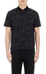 Valentino Camubutterfly Polo Shirt Black