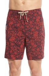 Men's Patagonia 'Wavefarer' Print Board Shorts Red Navy Blue