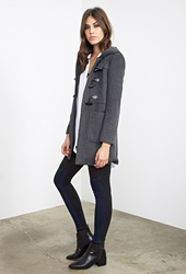 Forever 21 Classic Hooded Duffle Coat