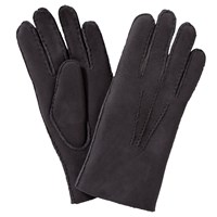John Lewis Fleece Lined Lambskin Leather Gloves Purple