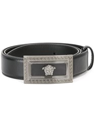 Versace Medusa Rectangular Buckle Belt Black