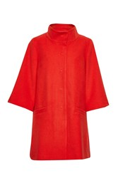 Great Plains Chester Bell Sleeves Swing Coat Red