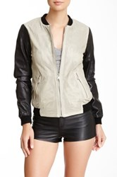 Andrew Marc New York Mesh Leather Jacket Multi