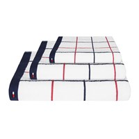 Tommy Hilfiger White Checks Towel Hand Towel