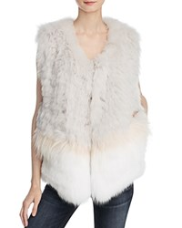 Yves Salomon Meteo By Three Stripe Fur Vest Petal Pink Stone Ivory