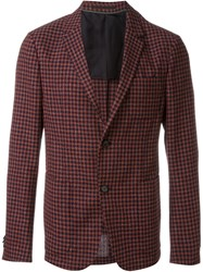 Z Zegna Checked Blazer Red