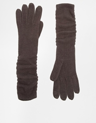 Asos Long Gloves In Super Soft Grey