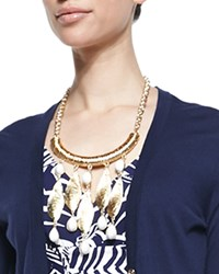 She Shells Necklace 18' Gold Metal Mtllc Lilly Pulitzer
