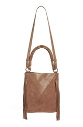 Sam Edelman 'Monica' Leather Bucket Bag Brown Truffle