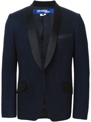 Junya Watanabe Comme Des Garcons Man Single Button Blazer Blue
