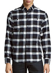 Howe Cotton Check Shirt Paint It Black