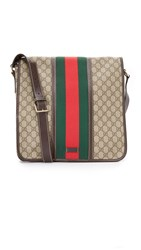 Wgaca Gucci Messenger Bag Previously Owned Tan