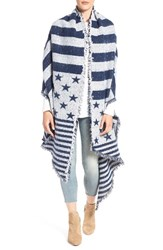 Collection Xiix Women's 'American Flag' Scarf Navy Chill