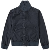 Save Khaki Poplin Bomber Jacket Blue