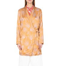 Dries Van Noten Cancun Satin Shirt Yellow